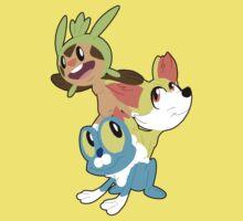 Gen VI Pokemon Starters Kids Clothes