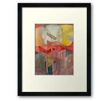 geo circle Framed Print