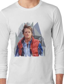 Marty McFly Polygons Long Sleeve T-Shirt