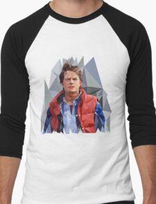 Marty McFly Polygons Men's Baseball ¾ T-Shirt