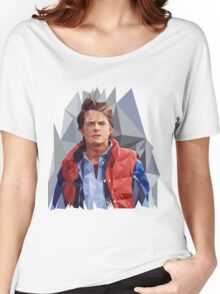 Marty McFly Polygons Women's Relaxed Fit T-Shirt