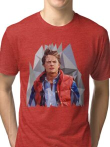 Marty McFly Polygons Tri-blend T-Shirt