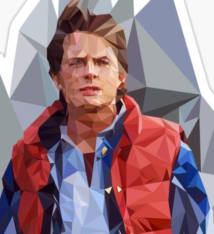 Marty McFly Polygons Sticker
