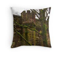 Turret on the Bridge Throw Pillow
