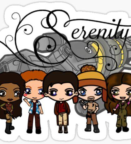 Firefly - Serenity and Crew Sticker