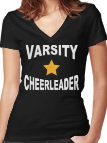 Varsity Cheerleader Women's Fitted V-Neck T-Shirt