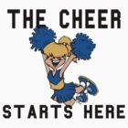 "Cheerleading ""The Cheer Starts Here"" by SportsT-Shirts"