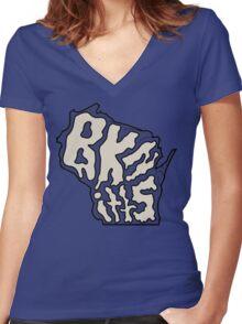 BKnittsconsin Women's Fitted V-Neck T-Shirt