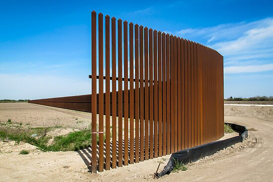 The Border Fence in Bright Light by Robert Kelch, M.D.