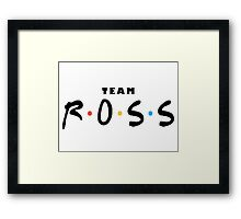 Friends - Team Ross Framed Print
