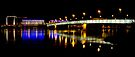 Linz Bridge @ Night by Walter Quirtmair