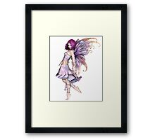 Pretty Purple Fairy Framed Print