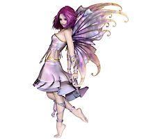 Pretty Purple Fairy Photographic Print