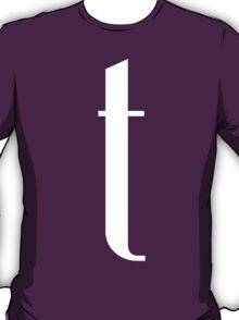 Letter T Print T-Shirt