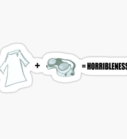 Horribleness Equation Sticker
