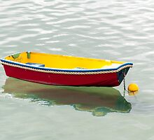 red dinghy by Anne Scantlebury