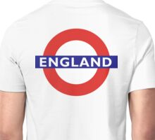 ENGLAND, English, UK, UNDERGROUND, TUBE, LONDON, BRITISH Unisex T-Shirt