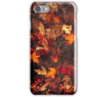 fall leaves in a puddle -iphone case iPhone Case/Skin