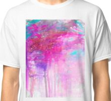 CARNIVAL DREAMS 1 Girly Bubblegum Pink Pastel Sky Whimsical Clouds Abstract Watercolor Painting Classic T-Shirt