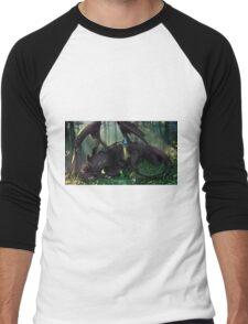 Toothless Mosaic Men's Baseball ¾ T-Shirt