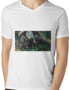 Toothless Mosaic Mens V-Neck T-Shirt