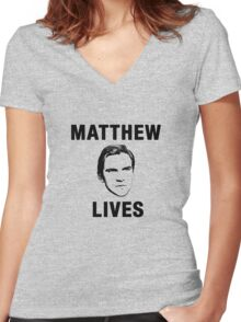 Matthew Lives Women's Fitted V-Neck T-Shirt