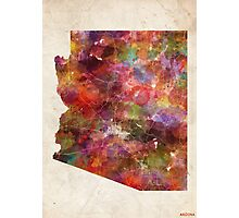 Arizona map Photographic Print