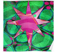 Christmas Celebration Abstract Painting Poster