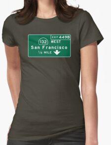 San Francisco, Road Sign, California T-Shirt