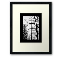 Transmission Tower Behind Nikola Tesla's Wardenclyffe Laboratory - Shoreham, New York Framed Print