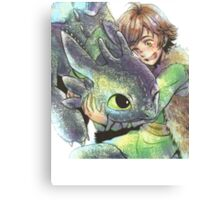How to train your dragon 'Hug' Canvas Print