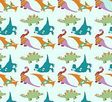 Festive Dinosaurs by Hannah-Hitchman