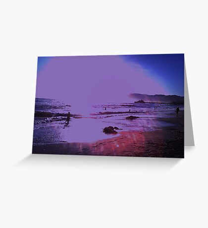 Bright On The Beach Greeting Card