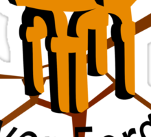 Auberdine: never forget Sticker