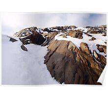 Glacial rockface Poster