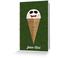 Joker Mint Greeting Card