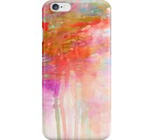 CARNIVAL DREAMS 2 Girly Tangerine Orange Peach Aqua Pastel Sky Whimsical Clouds Abstract Watercolor Painting iPhone Case/Skin