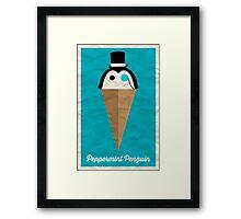 Peppermint Penguin Framed Print