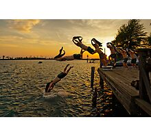 Diving Sequence Photographic Print