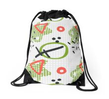 Modern hand draw colorful abstract seamless pattern  Drawstring Bag