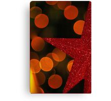 Red Christmas Tree Star Canvas Print
