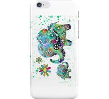 blooming elephants iPhone Case/Skin