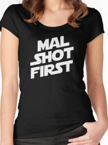 Mal Shot First Women's Fitted Scoop T-Shirt