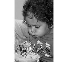 Jada, Blowing out the Candles! Photographic Print