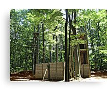 Mysterious Abandoned Structure In The Forest Canvas Print