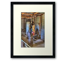 The Lister, Shearing Shed to run equipment prior to electricity  Framed Print