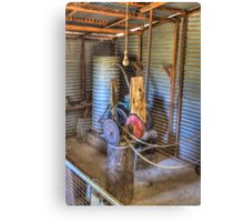 The Lister, Shearing Shed to run equipment prior to electricity  Canvas Print
