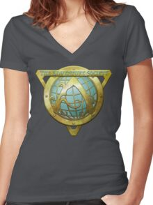 Adventure Society Women's Fitted V-Neck T-Shirt