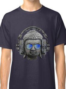 Cool Headphones Hip Hop Groove Buddha Banksy  Classic T-Shirt