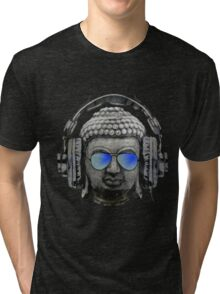 Cool Headphones Hip Hop Groove Buddha Banksy  Tri-blend T-Shirt